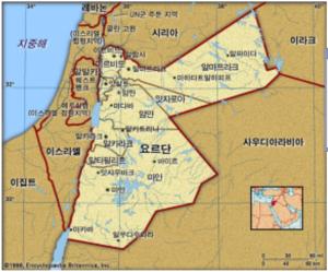 요르단 지도